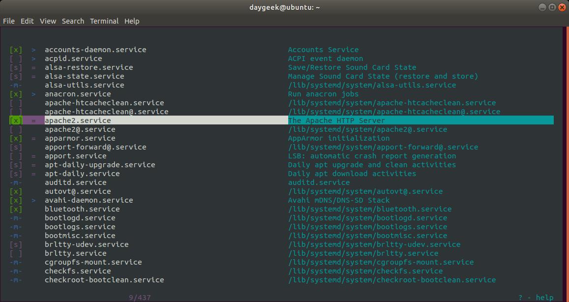 查看 Linux 中所有正在运行的服务