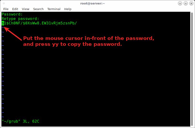 linux下对 GRUB Bootloader 进行密码保护