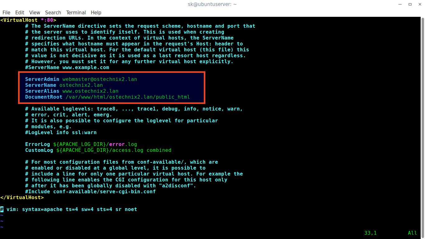 如何在Ubuntu 18.04 LTS中配置Apache虚拟主机