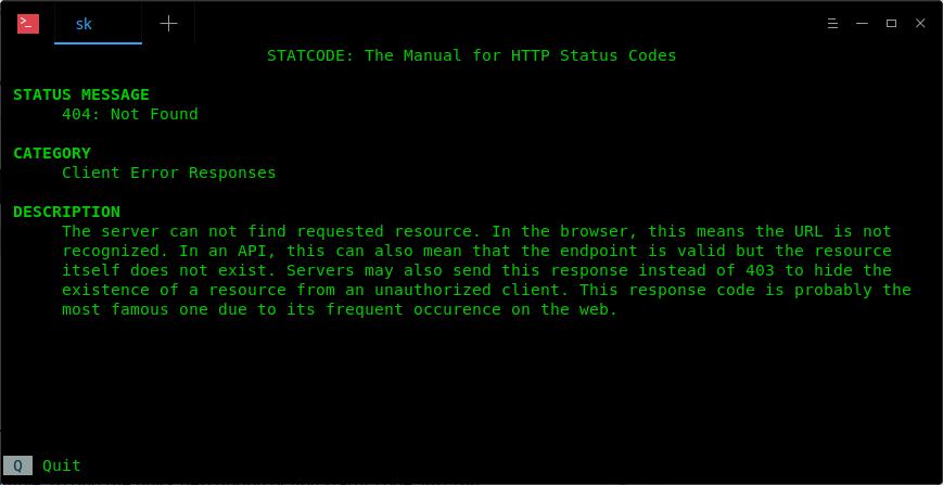 linux下通过Statcode获取各种HTTP状态代码的快速解释