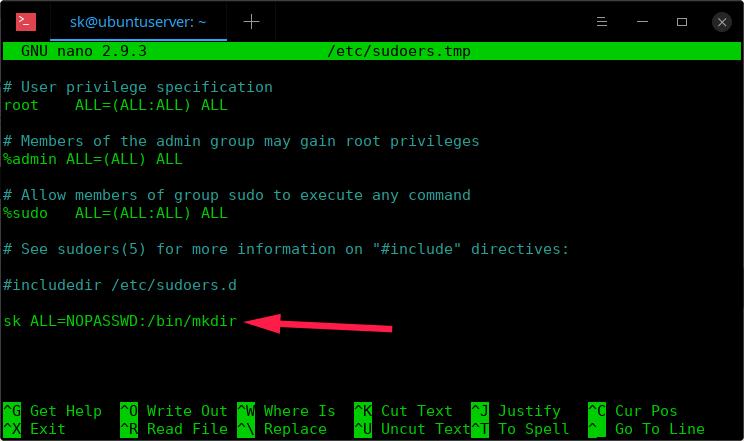 如何在Linux中运行没有Sudo密码的特定命令