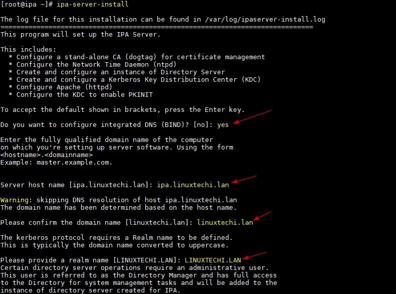 如何在CentOS服务器上安装和配置FreeIPA