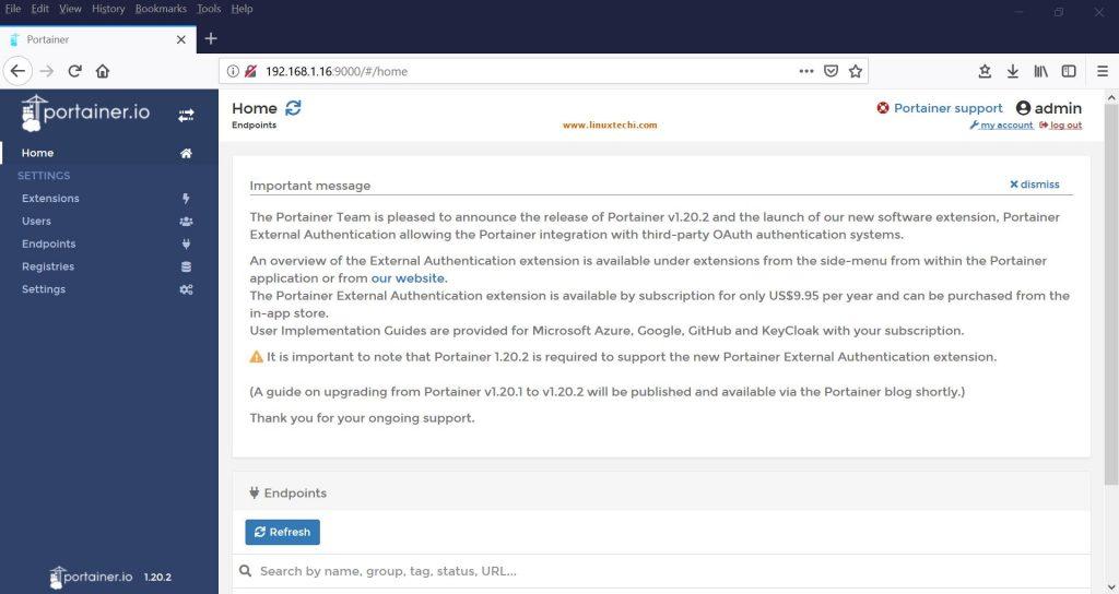 使用Portainer.io监控和管理Docker容器(GUI工具) - 第1部分