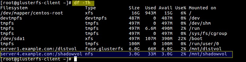 CentOS7上安装GlusterFS存储