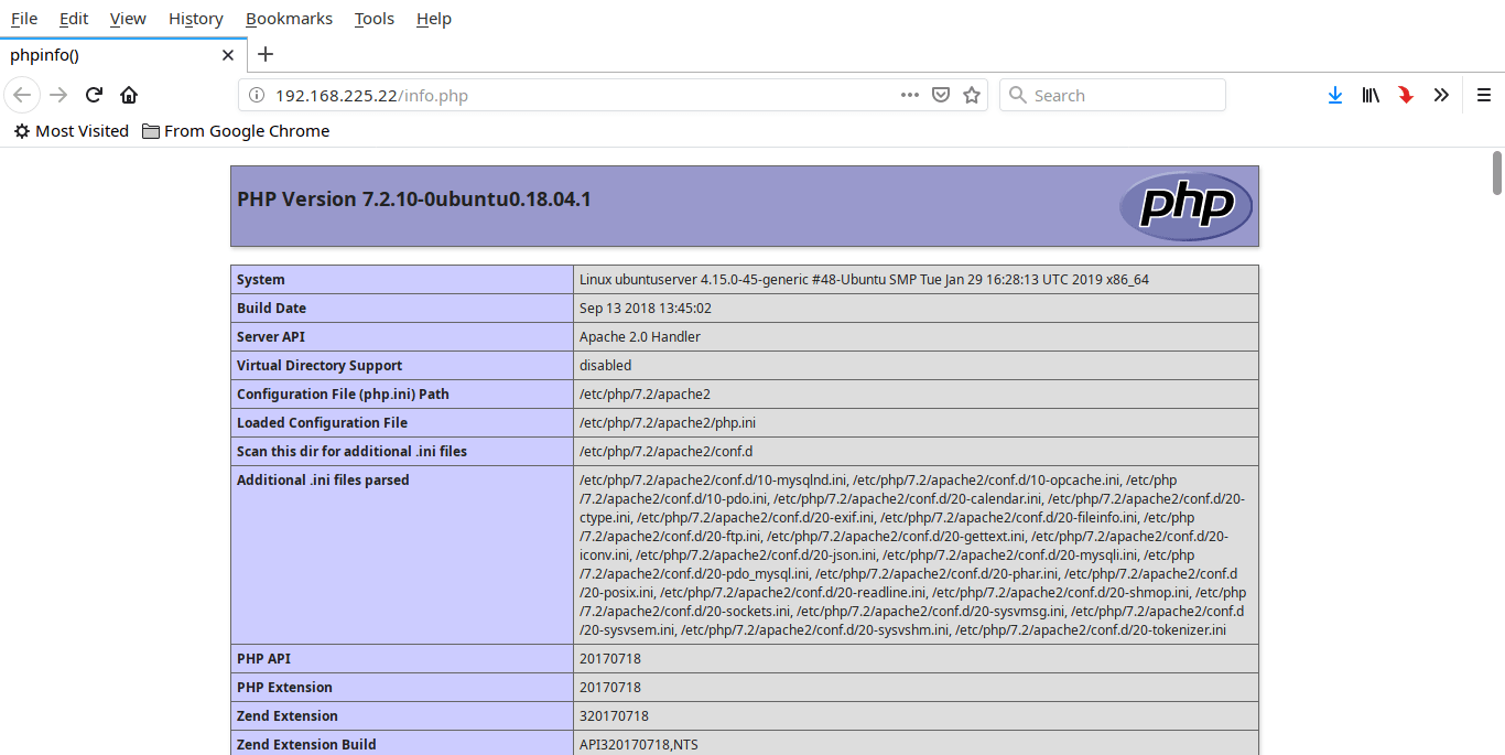 Ubuntu 18.04 LTS安装lnmp