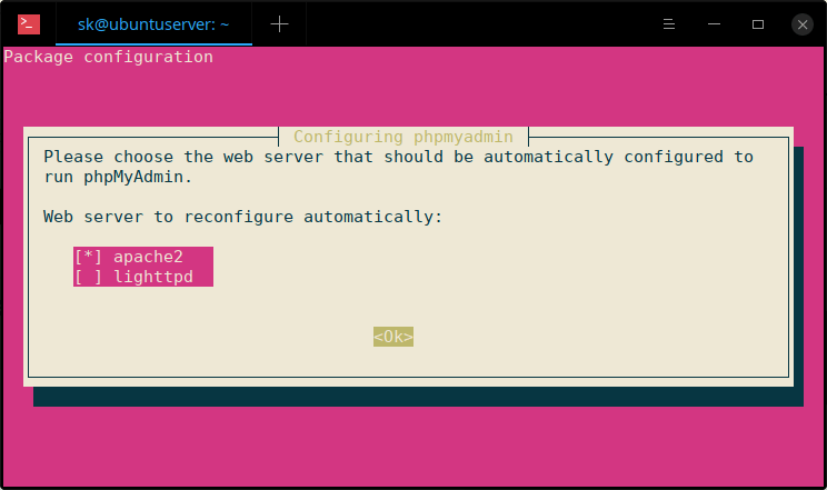 Ubuntu 18.04 LTS上安装带有LAMP的phpMyAdmin