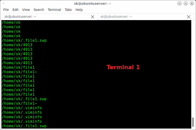 如何在Linux中使用fswatch监视文件更改