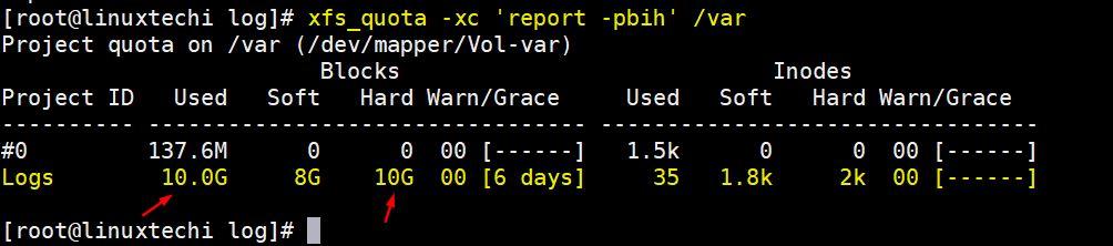 如何在Linux服务器上的XFS文件系统上设置磁盘配额