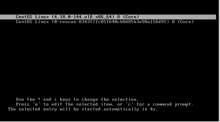 CentOS 8单用户模式修改root密码