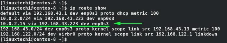 如何使用IP命令在Linux中添加和删除静态路由