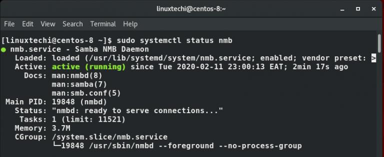 如何在CentOS 8上安装和配置Samba